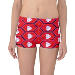 Red Bee Hive Reversible Bikini Bottoms