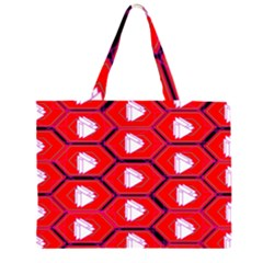 Red Bee Hive Large Tote Bag