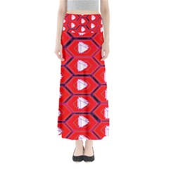 Red Bee Hive Maxi Skirts