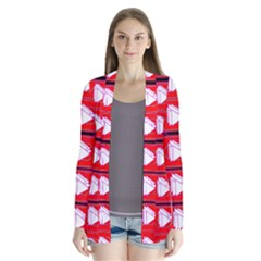 Red Bee Hive Cardigans