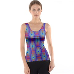 Red Blue Bee Hive Tank Top