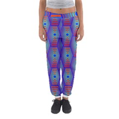 Red Blue Bee Hive Women s Jogger Sweatpants