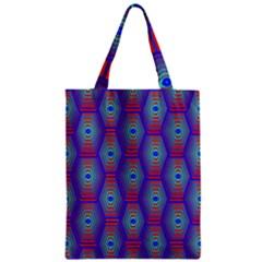 Red Blue Bee Hive Zipper Classic Tote Bag