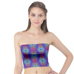 Red Blue Bee Hive Tube Top