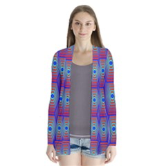 Red Blue Bee Hive Cardigans