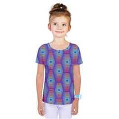 Red Blue Bee Hive Kids  One Piece Tee
