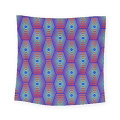Red Blue Bee Hive Square Tapestry (small)