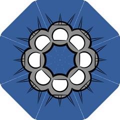 Rocket Ship App Icon Hook Handle Umbrellas (medium)