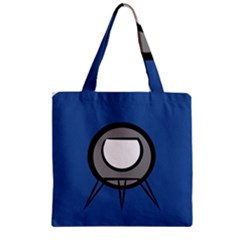 Rocket Ship App Icon Zipper Grocery Tote Bag