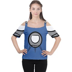 Rocket Ship App Icon Women s Cutout Shoulder Tee