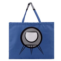 Rocket Ship App Icon Zipper Large Tote Bag