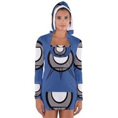 Rocket Ship App Icon Women s Long Sleeve Hooded T Shirt