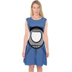 Rocket Ship App Icon Capsleeve Midi Dress
