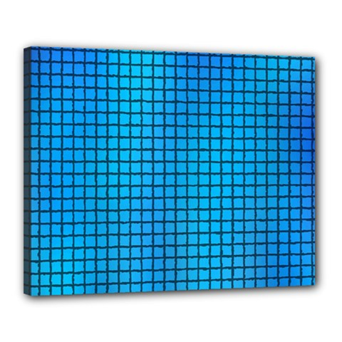 Seamless Blue Tiles Pattern Canvas 20  X 16