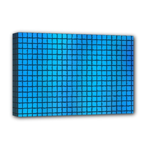 Seamless Blue Tiles Pattern Deluxe Canvas 18  X 12