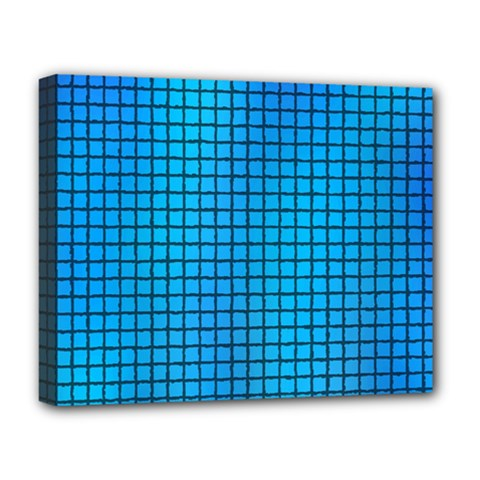 Seamless Blue Tiles Pattern Deluxe Canvas 20  X 16