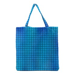 Seamless Blue Tiles Pattern Grocery Tote Bag