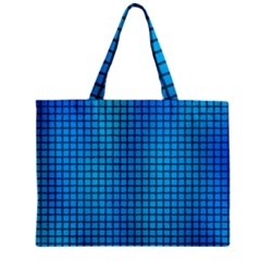 Seamless Blue Tiles Pattern Mini Tote Bag