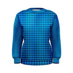 Seamless Blue Tiles Pattern Women s Sweatshirt
