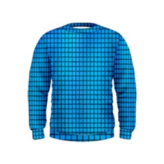 Seamless Blue Tiles Pattern Kids  Sweatshirt