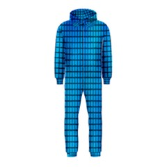 Seamless Blue Tiles Pattern Hooded Jumpsuit (kids)