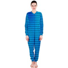 Seamless Blue Tiles Pattern Onepiece Jumpsuit (ladies)