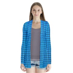 Seamless Blue Tiles Pattern Cardigans