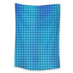 Seamless Blue Tiles Pattern Large Tapestry