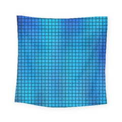 Seamless Blue Tiles Pattern Square Tapestry (small)