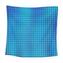 Seamless Blue Tiles Pattern Square Tapestry (large)