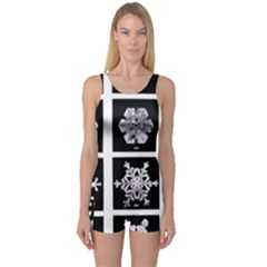 Snowflakes Exemplifies Emergence In A Physical System One Piece Boyleg Swimsuit