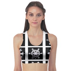 Snowflakes Exemplifies Emergence In A Physical System Sports Bra