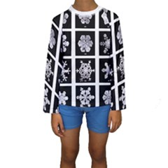 Snowflakes Exemplifies Emergence In A Physical System Kids  Long Sleeve Swimwear