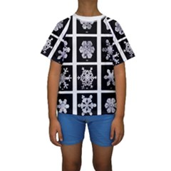 Snowflakes Exemplifies Emergence In A Physical System Kids  Short Sleeve Swimwear