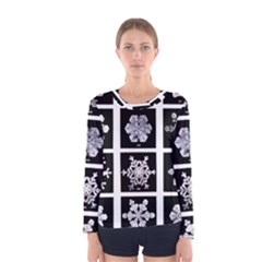 Snowflakes Exemplifies Emergence In A Physical System Women s Long Sleeve Tee