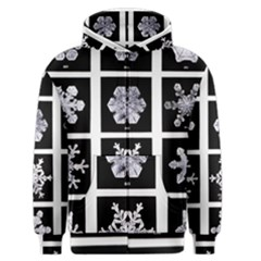Snowflakes Exemplifies Emergence In A Physical System Men s Zipper Hoodie