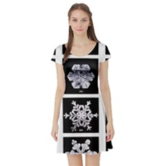Snowflakes Exemplifies Emergence In A Physical System Short Sleeve Skater Dress