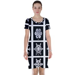 Snowflakes Exemplifies Emergence In A Physical System Short Sleeve Nightdress