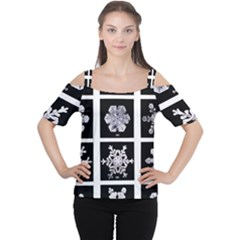 Snowflakes Exemplifies Emergence In A Physical System Women s Cutout Shoulder Tee