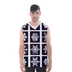 Snowflakes Exemplifies Emergence In A Physical System Men s Basketball Tank Top