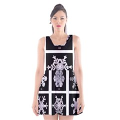 Snowflakes Exemplifies Emergence In A Physical System Scoop Neck Skater Dress