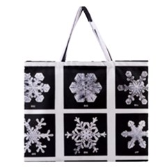 Snowflakes Exemplifies Emergence In A Physical System Zipper Large Tote Bag