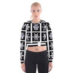 Snowflakes Exemplifies Emergence In A Physical System Women s Cropped Sweatshirt