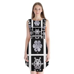 Snowflakes Exemplifies Emergence In A Physical System Sleeveless Chiffon Dress