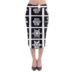 Snowflakes Exemplifies Emergence In A Physical System Midi Pencil Skirt