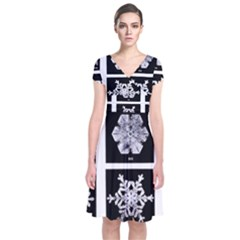 Snowflakes Exemplifies Emergence In A Physical System Short Sleeve Front Wrap Dress