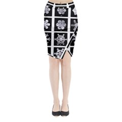 Snowflakes Exemplifies Emergence In A Physical System Midi Wrap Pencil Skirt