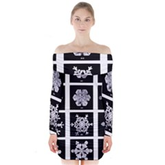 Snowflakes Exemplifies Emergence In A Physical System Long Sleeve Off Shoulder Dress