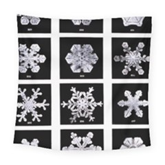 Snowflakes Exemplifies Emergence In A Physical System Square Tapestry (large)