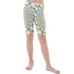 Tech Neon And Glow Backgrounds Psychedelic Art Psychedelic Art Kids  Mid Length Swim Shorts